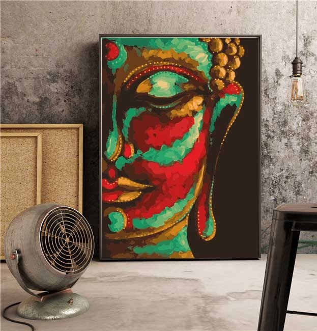 Large size Paint by Numbers Buddha in 60x80 cm