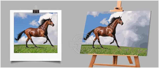 Custom Paint by Numbers for Horses
